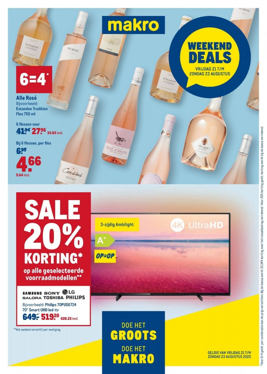 Makro Weekenddeals Folder 21.08.2020 - 23.08.2020