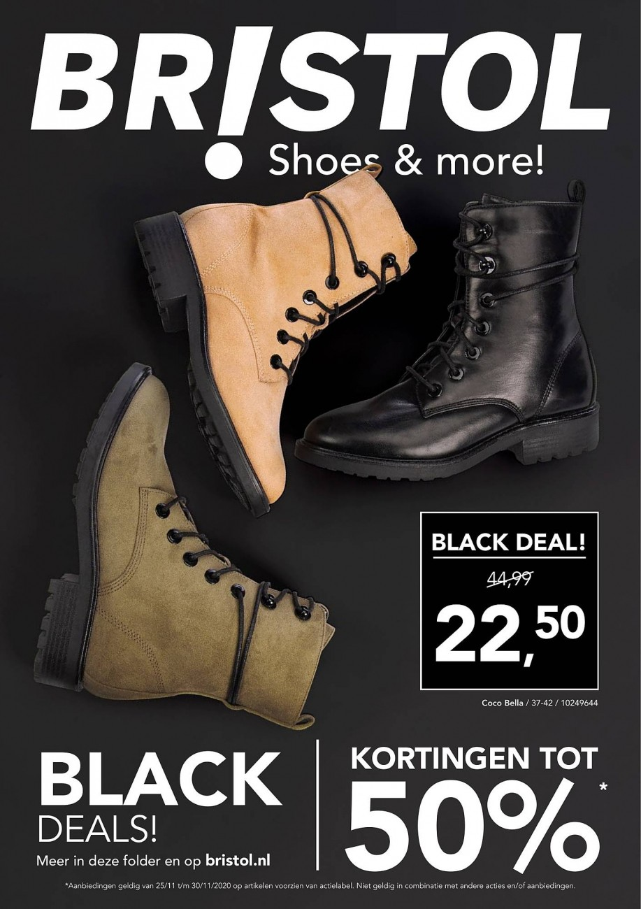 Bristol Black Friday Folder geldig van 25.11.2020 - 30.11.2020 - shoes and more