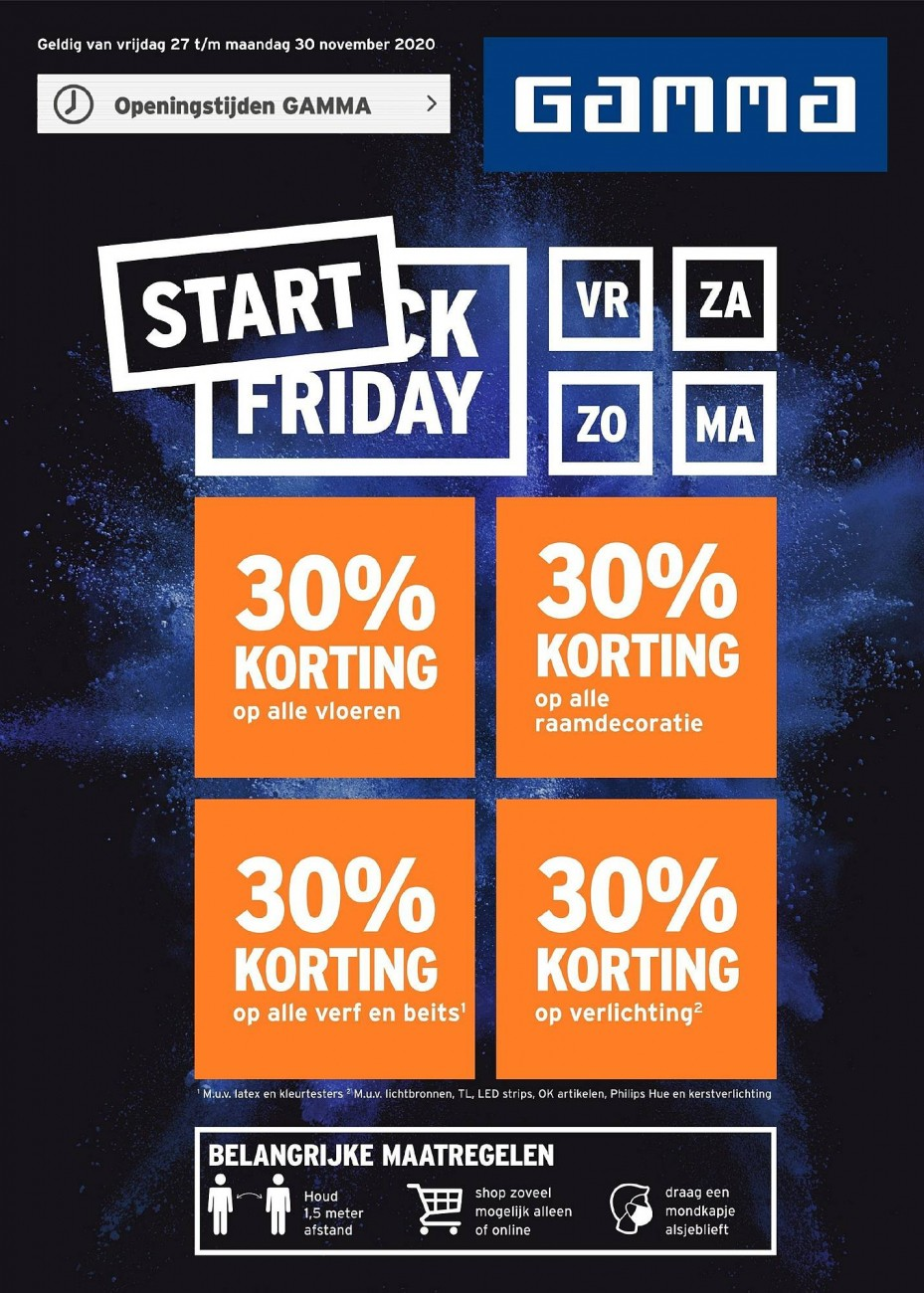 GAMMA Black Friday Folder geldig van 27.11.2020 tot 30.11.2020