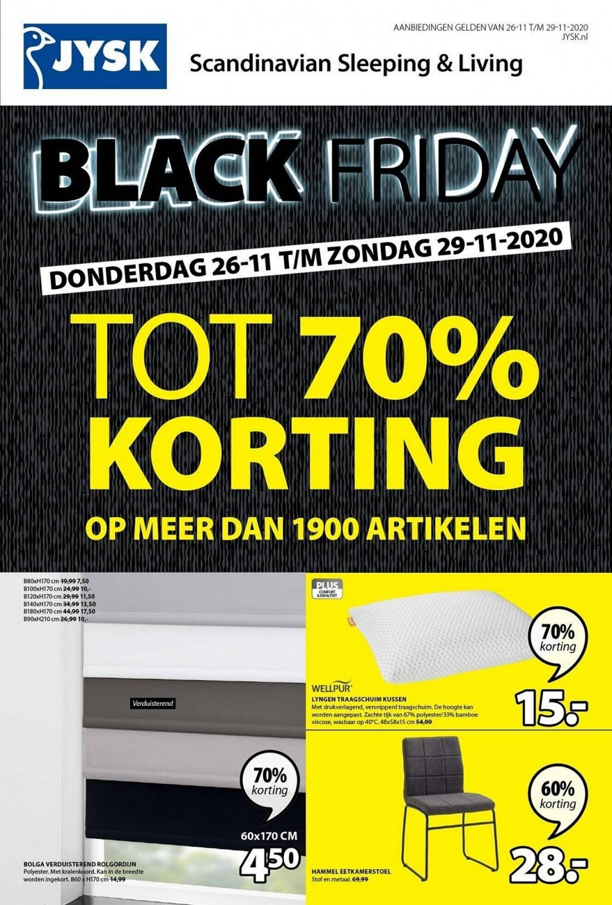 Jysk Black Friday Folder 26.11.2020 - 29.11.2020